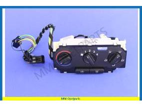 Control unit, heater & ventilator, without airco, Delphi