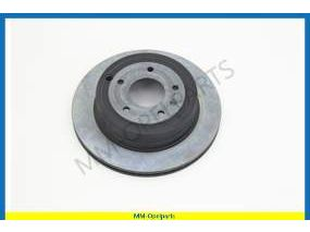 Brake disc, rear, 302x28 MM