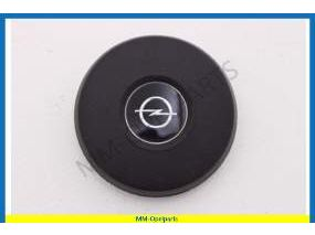 Claxon pushbutton, Round with emblem