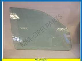 Door window glass right green tinted