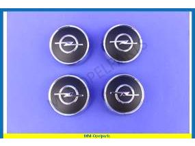 Wheel cover chrome black with Opel sign set 4 pieces