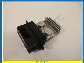 Heater resistor for car with airco, with climate control